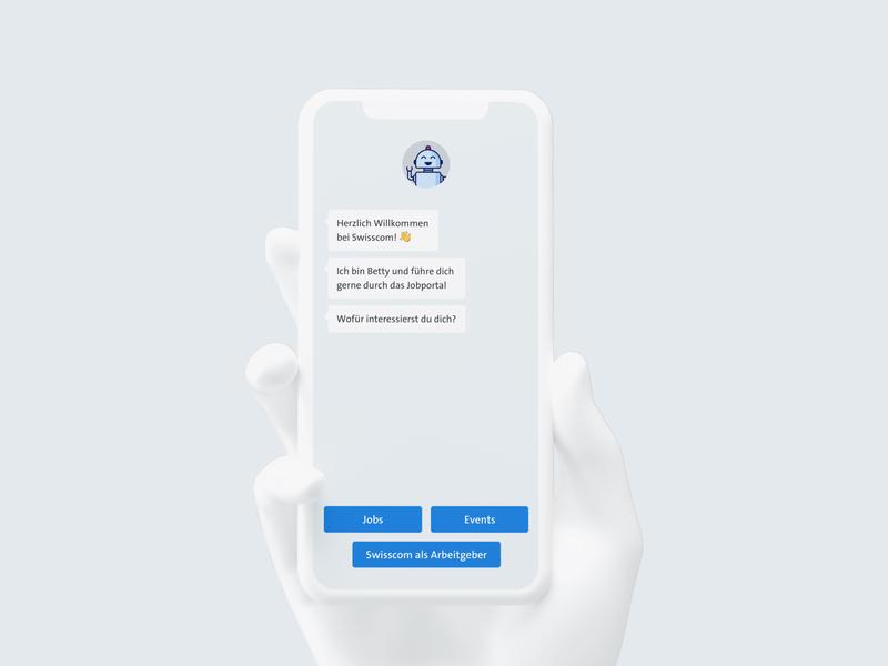 Chatbot for swisscom.ch/jobs