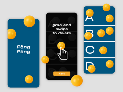 Ping Pong Counter App 🏓 instructional overlays instructional overlays mobile app coach marks gaming app modern typography gamification application design app 3d pingpong counts counter game minimal flat simple