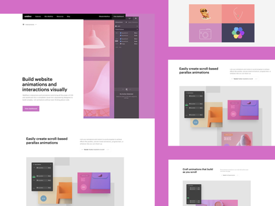 Webflow feature pages - Interactions and animations ux ui webflow animations interactions
