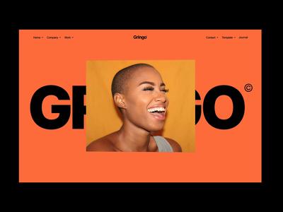 Gringo interactions typography 3d hero websites marketplaces templates webflow