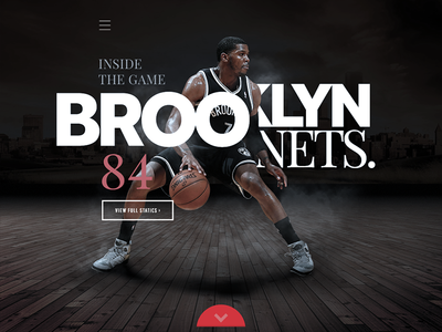 Brooklyn Nets app iphone ios dashboard design black sports basketball hero dash application interface