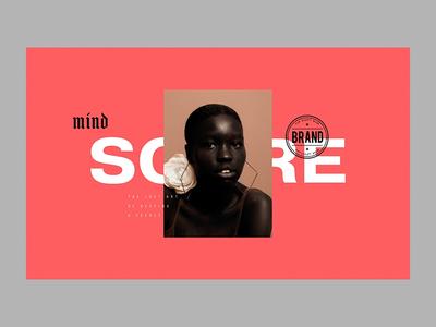 Mind Score animation inspiration hero ui interaction typograph interface gif principle design