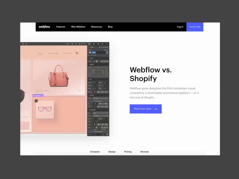Webflow vs  Shopify by JP for Webflow on Dribbble