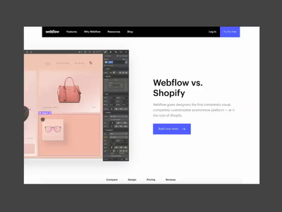 Webflow vs. Shopify ecommerce webflow design