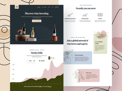 Why Vinovest branding agency 3d modern iconography why page landing page brand positioning wine investment investing typography icon brand brand identity branding illustration