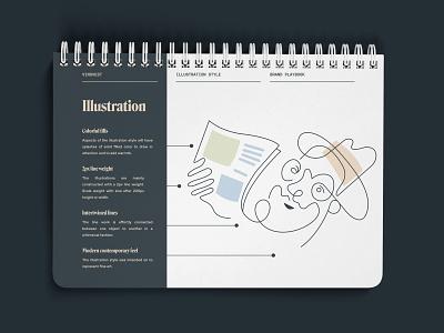 Vinovest Illustration Style newsletter blog wine modern illustration style brand guide illustrator brand book website icons icon brand brand identity branding illustration