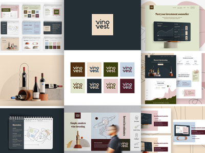 Vinovest Case Study is Live! brand guide brand guidelines brand book investment app investing finance tech logo brand icon brand identity branding illustration