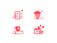 Elly Icons brand identity design brand design brand app icons set iconographer iconography icons healthcare health app health