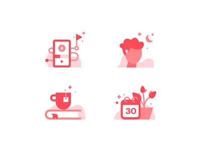 Elly Icons brand identity design brand design brand app icons set iconographer iconography icons healthcare health app health