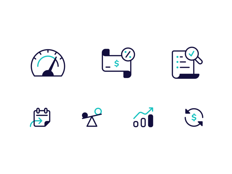 Finance Icon Set brand guidelines brand guide brand identity branding iconography iconset icons finance fintech illustration