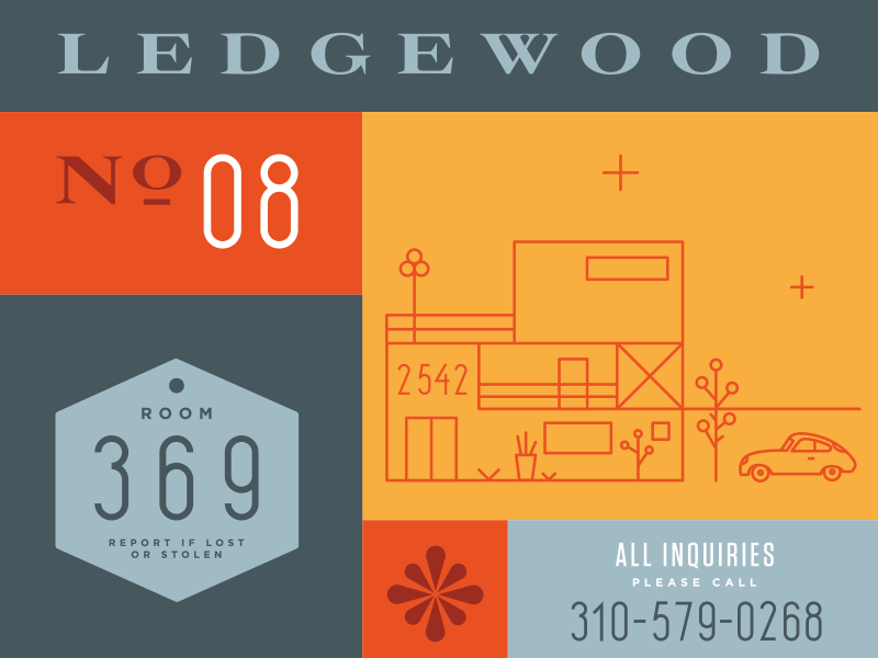 Ledgewood Numeral Set numerals modern mid-century modern los angeles california homes eames clean