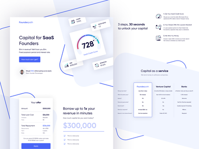 Capital for SaaS Founders minimial dashboard app saas tech marketing website landing page brand design branding design branding