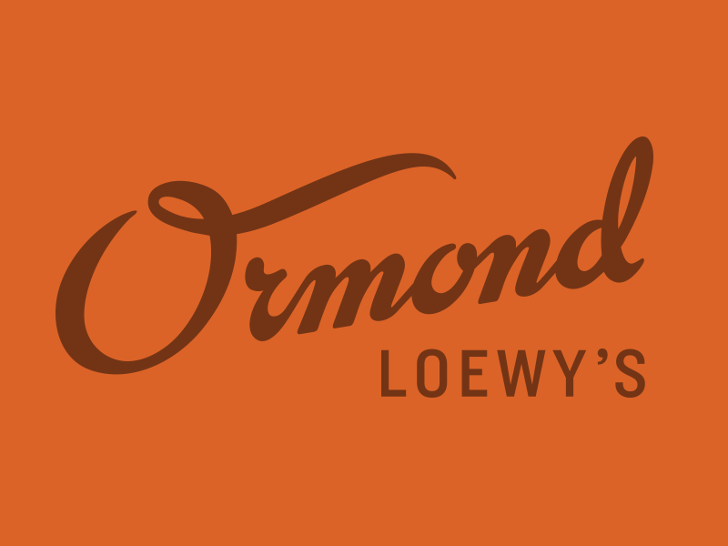 Ormond Loewy's department store los angeles mid-century modern clothing classic california furniture script