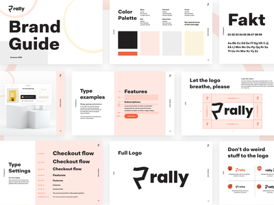 Rally Brand Guide startup tech colors 3d logodesign logo modern logo modern brand guide brand brand identity branding
