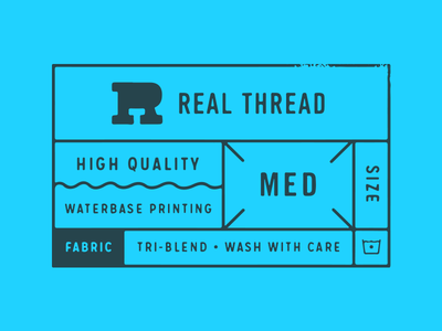 Real Thread Clothing Tag