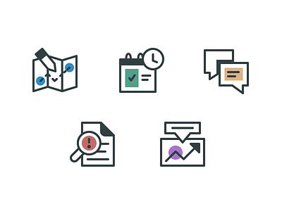 Product Icons brand identity branding b2b education icon design icons pack sass illustration iconography icon iconset icons