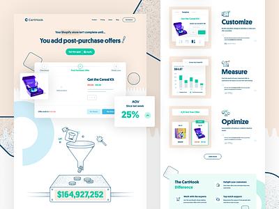 CartHook iconograpghy icon illustration brand identity app shopping app startup brand branding shopify website design website