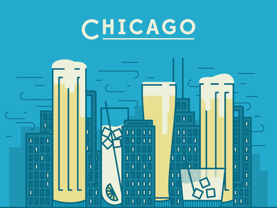 Chicago type brewski chicago wind libations lights beer icon grouper social club