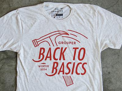 Back To Basics tshirt apparel illustration american apparel grouper social club type