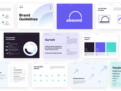 Abound Brand Guide branding agency brand logodesign startup tech api styleguide brand book typography color palette brand guidelines logo brand identity brand design branding design branding