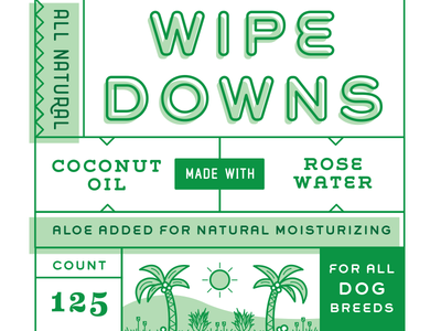 All Natural Dog Wipes