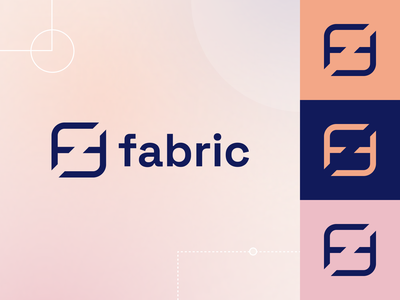 Fabric tech logo tech modern brand guidelines brand guide brand book brand designer brand identity branding b2b logos logo
