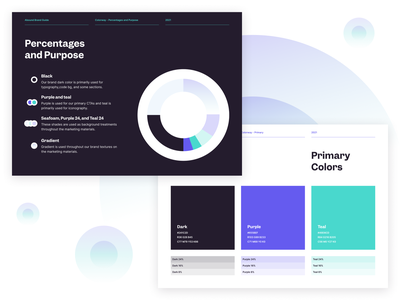 Abound Color Guidelines brand designer identity brand guide brand guidelines fintech finance tech colors typography brand brand identity branding