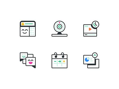 Webinar - B2B SaaS - Icons brand designer b2b saas iconography brand guide landing page website icons icon brand brand identity branding illustration