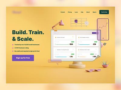B2B Brand Uplift Concept ui brand designer web design home page website saas b2b landing page typography brand brand identity 3d illustration