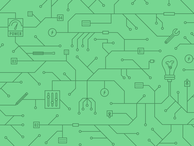 API Illustration api wires pattern light bulb pencil lines teespring circuit board tech apps
