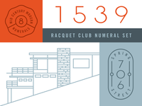 Mid Century Modern Numerals