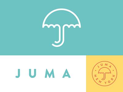 Juma umbrella identity new york logo word mark branding