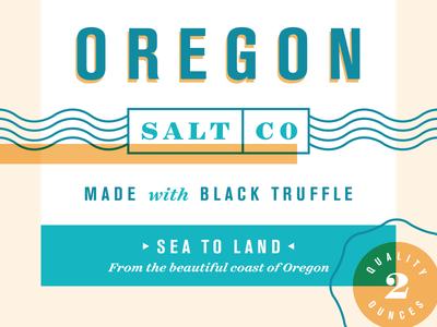 Oregon Salt Co. salt oregon typography packaging illustration food