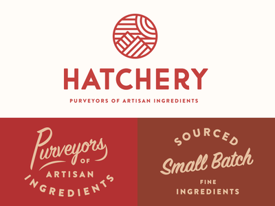 Hatchery Branding identity ingredients food logo artisan branding rebrand