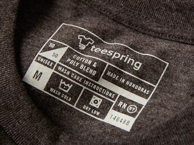 50/50 Tshirt Tag typography tshirt apparel tag cotton brand branding print line art start up