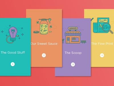 Employee Handbook clean bright vibrant print handbook iconography illustration branding layout design book