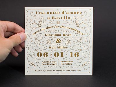 Letterpress Gold Foil line art typography print design printing wedding floral press mamas sauce letterpress gold foil save the date