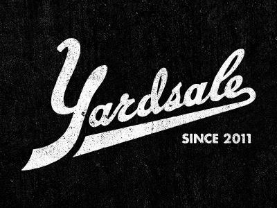 Yardsale Logo logo white identity vintage black