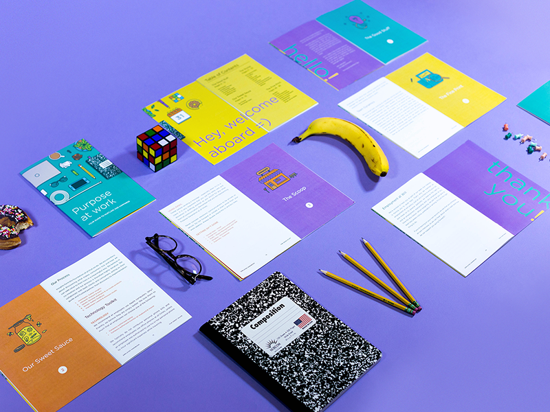 employee handbook cover design template - employee handbook shot 2 by kyle anthony miller dribbble