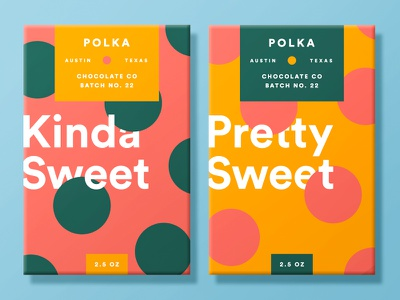 Chocolate Packaging wrap logo branding polka dot pattern austin label packaging