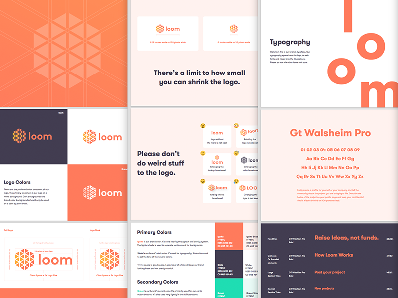 Loom Brand Guide by Kyle Anthony Miller on Dribbble