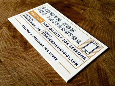 Dive Into iOS Business Card business card branding print letterpress business cards business cards