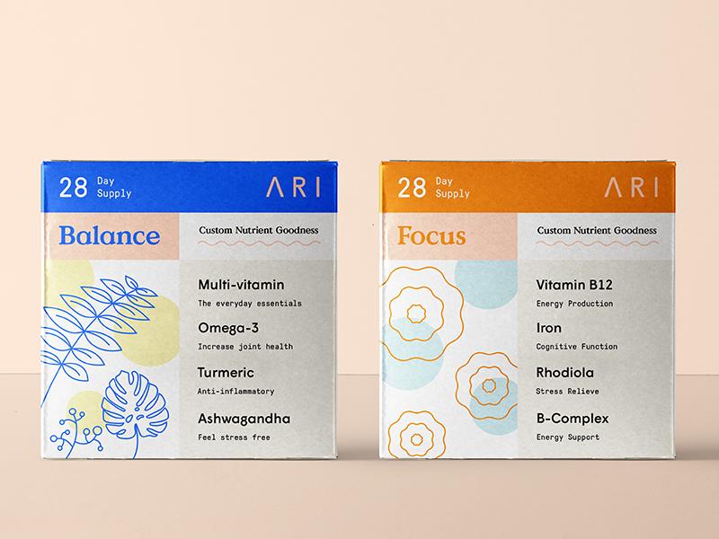 Ari austin illustration nutrition brand label logo brand identity packaging