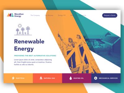 Renewable Energy ux ui logo start up illustration brand web design website landing page