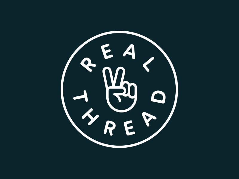 429e75ebf Real Thread Badge brand identity identity print illustrator icon brand  branding badge