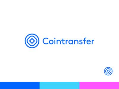 Cointransfer Logo brand identity logo money transfer coin start up ico cryptocurrency crypto blockchain