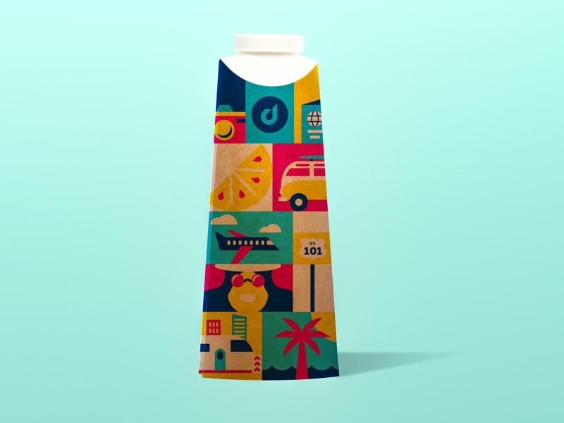 Water Bottle Design sf illustration bottle water identity design packaging