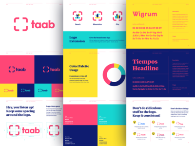 Taab Brand Guide identity typography color palette logo style guide brand guide brand