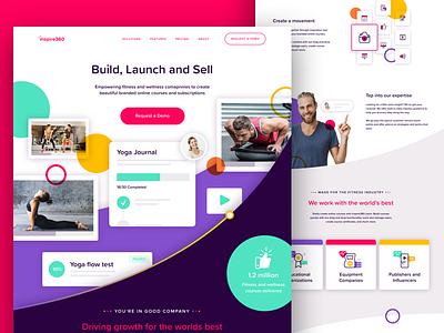 Marketing Website website icon brand illustration single page landing page homepage marketing