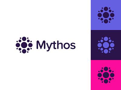 Crypto Logo Concept circle icon decentralized node brand identity brand cryptocurrency blockchain crypto logo